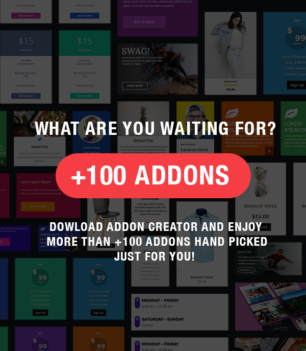 Addon Creator for Visual Composer 1